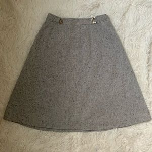 EUC! The Limited grey A-Line tweed skirt